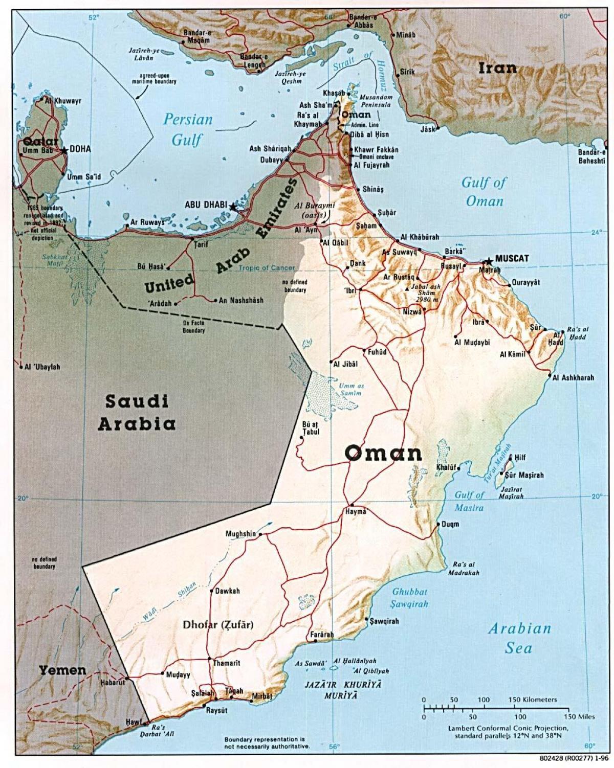 Oman Kaupungeissa Kartta Oman Kartta Kaupungit Lansi Aasia Aasia