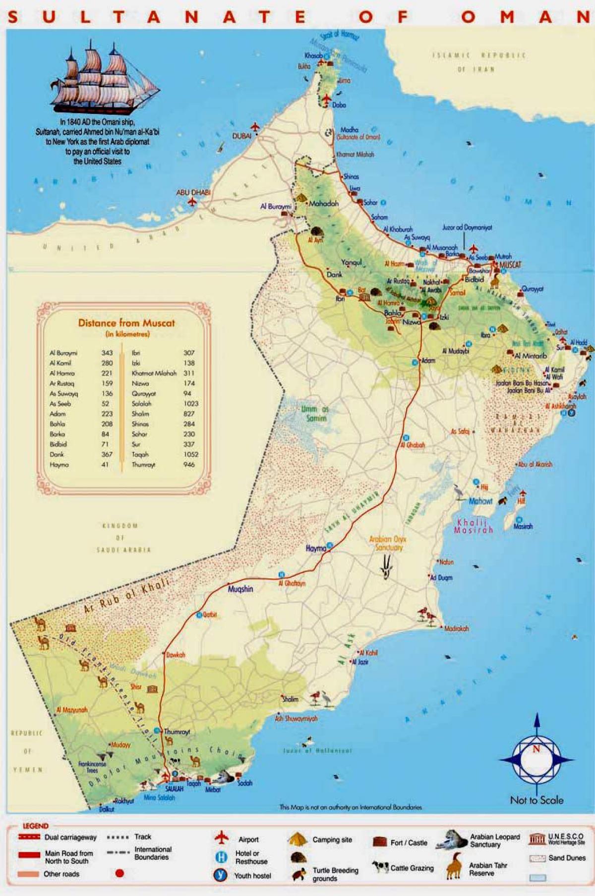 Sultanate Of Oman Kartta Oman Yksityiskohtaisen Kartan Lansi
